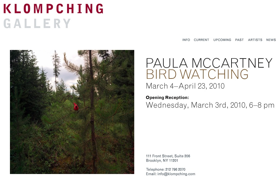 Paula McCartney, Bird Watching at KLOMPCHING